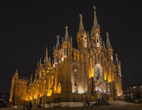 Catedral del católico de Moscú Foto de archivo
