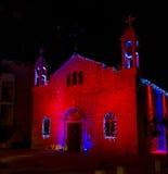 Catedral del católico del melkite, decoración del St Elias de la Navidad en Haifa Imágenes de archivo libres de regalías