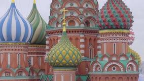 Catedral del de Vasily bendecido almacen de metraje de vídeo