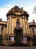 Catedral del Dominican de Lviv Imagenes de archivo