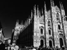 Catedral del Duomo de Milano, Italia Foto de archivo libre de regalías