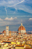 Catedral del Duomo en Florencia fotografía de archivo
