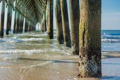 Catedral del embarcadero de la playa Foto de archivo libre de regalías