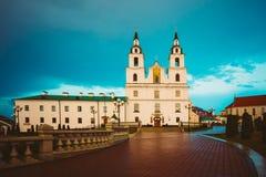 Catedral del Espíritu Santo en Minsk, Bielorrusia en fotos de archivo