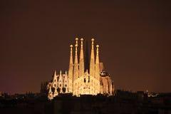 Catedral del familia de Sagrada en Barcelona, España Fotografía de archivo libre de regalías