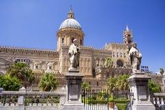 Catedral del frente de Palermo Imágenes de archivo libres de regalías