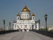 Catedral del Jesucristo de Moscú Foto de archivo libre de regalías