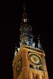 Catedral del ladrillo con horas Imagen de archivo libre de regalías