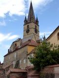 Catedral del Lutheran de St Mary en Sibiu imagen de archivo libre de regalías