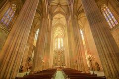 Catedral del monasterio de Batalha Foto de archivo libre de regalías