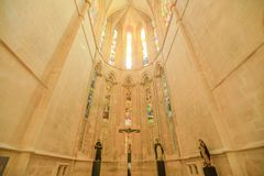 Catedral del monasterio de Batalha Imagenes de archivo