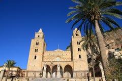 Catedral del normando de Cefalu Imagen de archivo