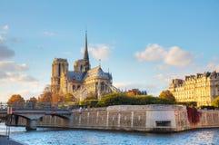 Catedral del Notre Dame de Paris Foto de archivo libre de regalías