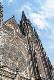 Catedral del od San Vito de la fachada, Praga, República Checa Imagen de archivo