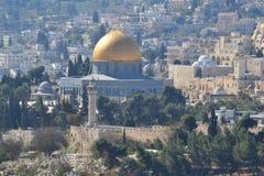 Catedral del paisaje de la ciudad de la arquitectura de Jerusalén Imagen de archivo libre de regalías