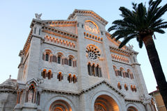 Catedral del Principado de Monaco Imagem de Stock
