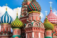Catedral del ` s de la albahaca del santo en el cuadrado rojo, Moscú Imagenes de archivo