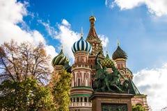 Catedral del ` s de la albahaca del santo en el cuadrado rojo, Moscú fotos de archivo