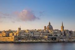 Catedral del ` s de La Valeta, de Malta - de StPaul y la ciudad antigua de La Valeta Fotografía de archivo