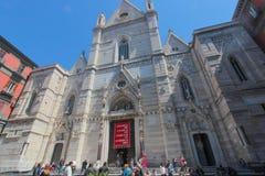 Catedral del ` s de St Mary en Nápoles Imagen de archivo libre de regalías
