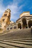 Catedral del Saint Andrews en Amalfi, Italia Imágenes de archivo libres de regalías