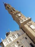 Catedral del Salvador (La Seo) de Zaragoza Arkivbild