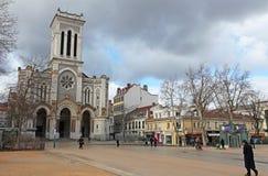 Catedral del santo Charles Borromeo en St. Etienne, Francia Fotografía de archivo