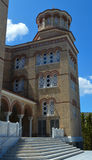 Catedral del santo Nectarios en la isla de Aegina, Grecia el 19 de junio de 2017 Imágenes de archivo libres de regalías