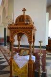 Catedral del santo Nectarios en la isla de Aegina, Grecia el 19 de junio de 2017 Imagen de archivo