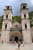 Catedral del santo Tryphon en Kotor, Montenegro Imagen de archivo