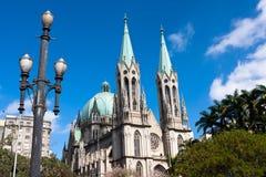Catedral del SE, Sao Paulo fotos de archivo libres de regalías