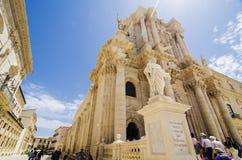 Catedral del siracusa, Sicilia Imagenes de archivo