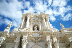 Catedral del siracusa, Sicilia Imagen de archivo libre de regalías