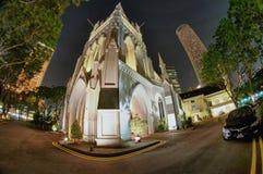 Catedral del St. Andrew, Singapur Imágenes de archivo libres de regalías