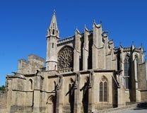 Catedral del St. Celse, Carcasona Imagen de archivo