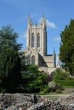 Catedral del St Edmundsbury con la pared de la abadía Fotografía de archivo libre de regalías