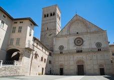 Catedral del St. Rufino. Assisi. Umbría. Fotografía de archivo