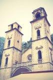 Catedral del St Tryphon en Kotor Imagen de archivo libre de regalías