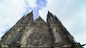 Catedral del St Vita s en Praga almacen de video