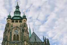 Catedral del St Vitus en el castillo de Praga en Praga Imágenes de archivo libres de regalías