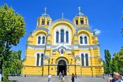 Catedral del St Vladimir Cathedral aka Volodymyrsky en Kiev, Ucrania, Imagenes de archivo