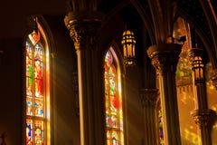 Catedral del vidrio de la mancha Foto de archivo