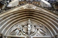 Catedral delantera de la cara Imagen de archivo libre de regalías