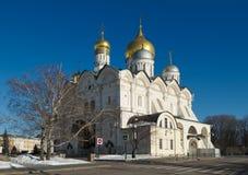 Catedral do arcanjo no Kremlin de Moscovo Fotografia de Stock