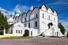 Catedral do aviso em Kazan Kremlin Imagens de Stock