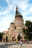 Catedral do aviso em Kharkiv, Ucrânia Fotografia de Stock Royalty Free