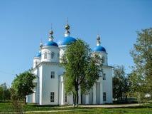 Catedral do aviso na cidade do russo da região de Meshchovsk Kaluga Fotos de Stock