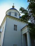 Catedral do aviso na cidade do russo da região de Meshchovsk Kaluga Fotos de Stock Royalty Free