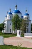 Catedral do aviso na cidade do russo da região de Meshchovsk Kaluga Imagens de Stock Royalty Free