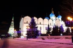 A catedral do aviso no Kremlin de Kazan - um outstand Imagem de Stock Royalty Free